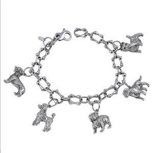Tiffany & co heavy dog charm bracelet